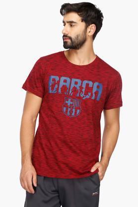 FIFAMens Round Neck Printed T-Shirt - 203281154