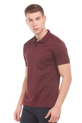 Mens Regular Fit Solid Casual Polo T-Shirt