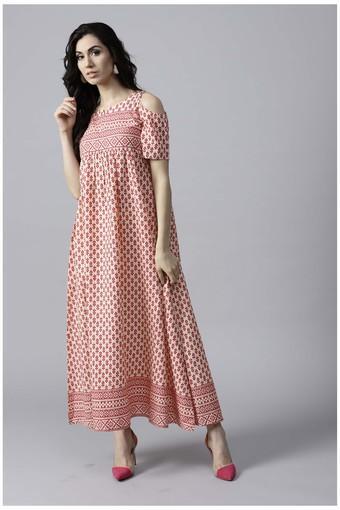 Women Cotton Printed Anarkali Kurta