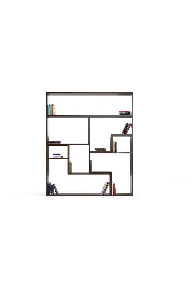 Brown Pixfor Bookshelf With Spacious Shelves