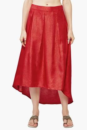 EXCLUSIVE LINES FROM BRANDS Women's Solid High Low Skirt - 201488848_9607