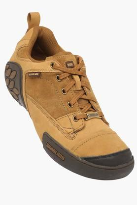WOODLANDMens Leather Lace Up Casual Shoes