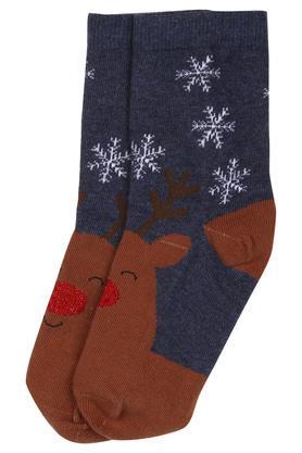 Boys Reindeer Printed Socks