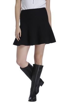 VERO MODAWomens Solid Short Skirt