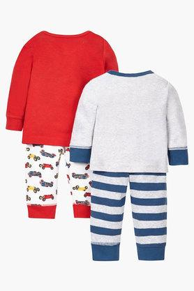 Boys Envelope Neck Stripe and Printed Tee and Pants Pack of 2