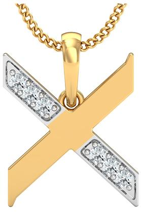 P.N.GADGIL JEWELLERSWomens The 'X' Diamond Pendant DJPD-197