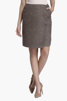 VERO MODA Womens Slub Short Skirt