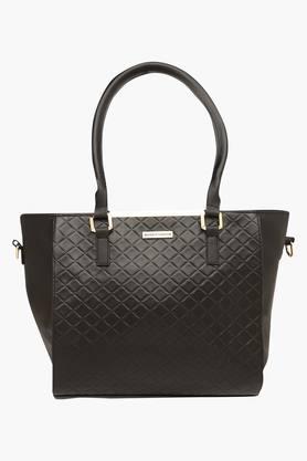 ELLIZA DONATEINWomens Zipper Closure Satchel Handbag - 203524636_9212
