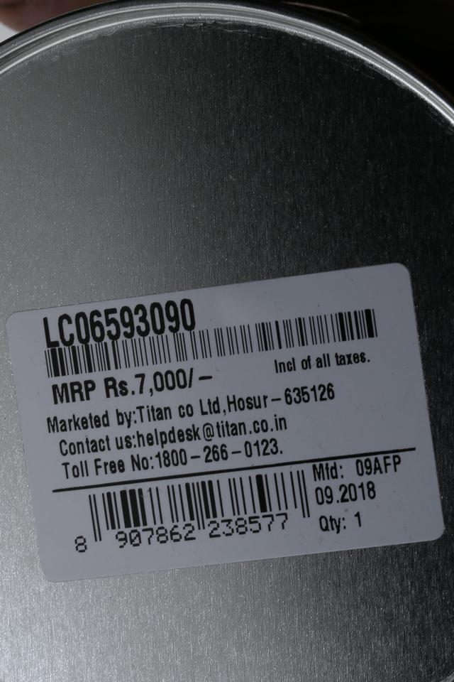 Mens Analogue Blue Dial Metallic Watch - LC06593090