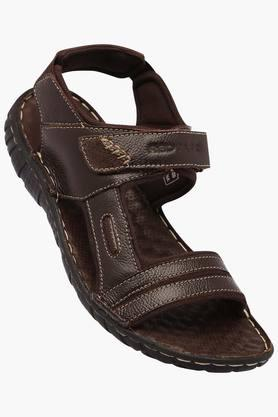 RED TAPEMens Leather Velcro Closure Sandals