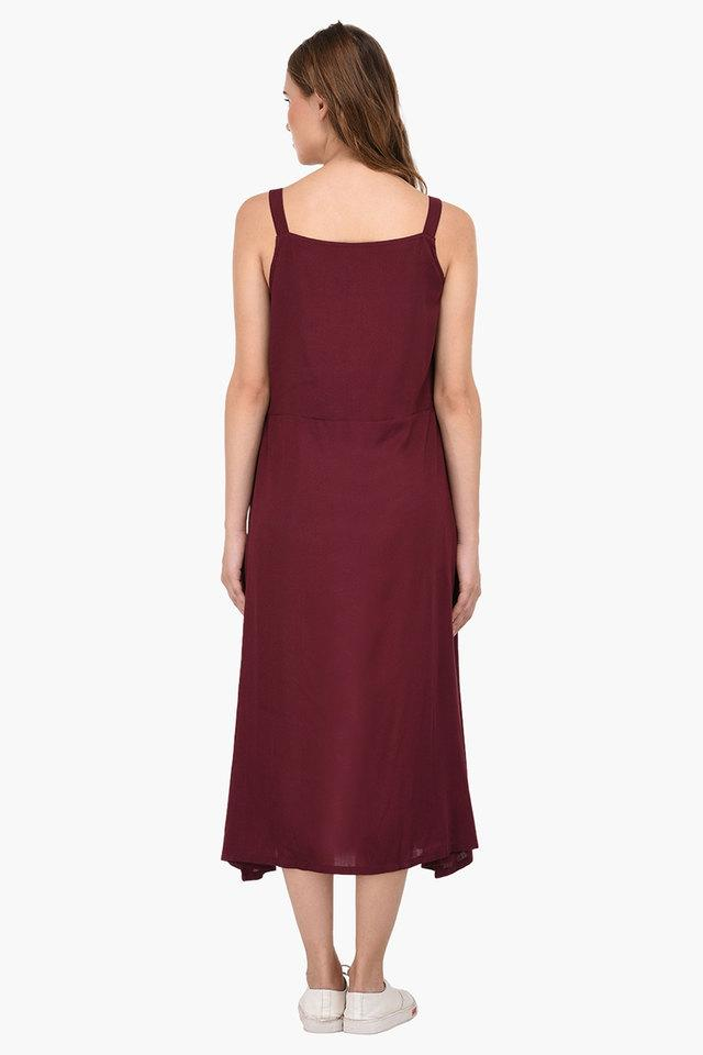 Womens Square Neck Printed Maxi Dress