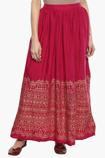 Womens Printed Long Skirt