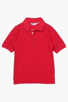 White Pique Collar T-Shirt