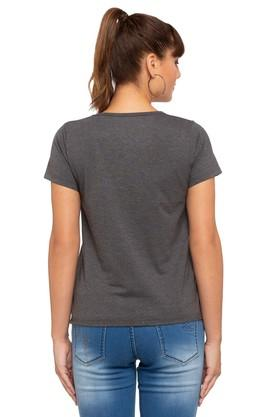 Womens Round Neck Printed Top