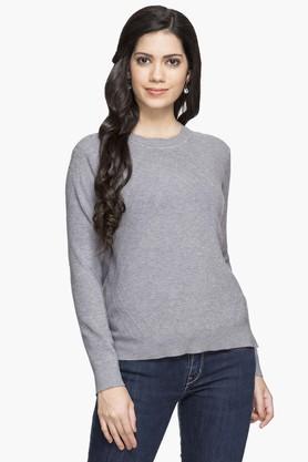 GIPSYWomens Round Neck Slub Sweater - 203397665