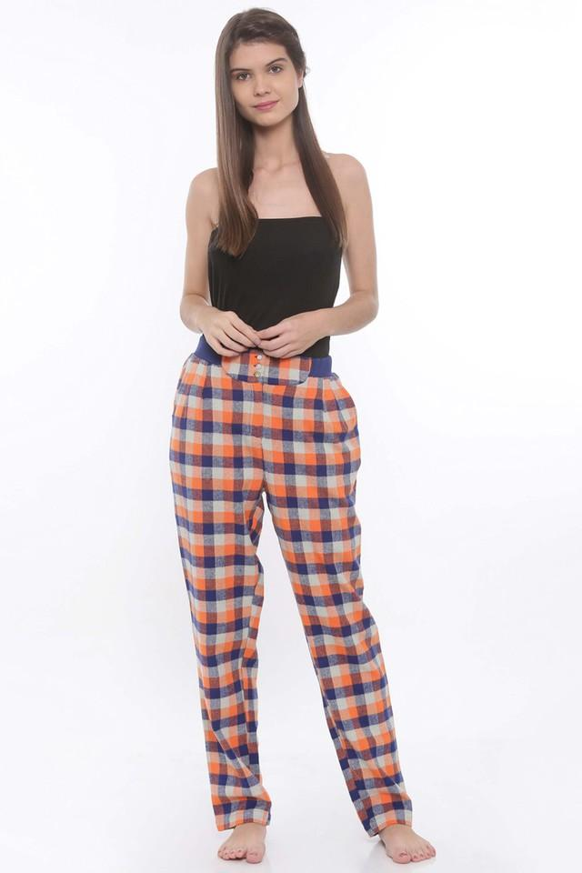 Womens Checked Track Pants