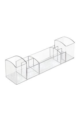 Rectangular Transparent Organiser Holder with Multiple Compartments