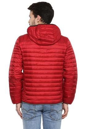 Mens Hooded Solid Quilted Jacket