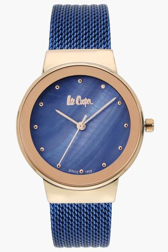 Womens Analogue Blue Dial Metallic Watch - LC06472490