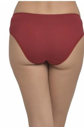 Womens Mid Waist Lace Bikini Briefs