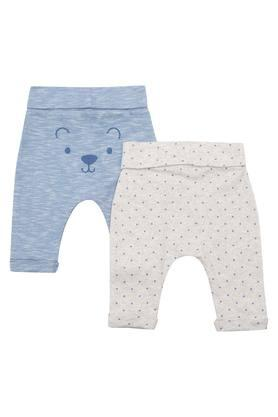 Kids Slub and Printed Pants - Pack of 2