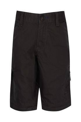 Boys 8 Pocket Solid Cargos