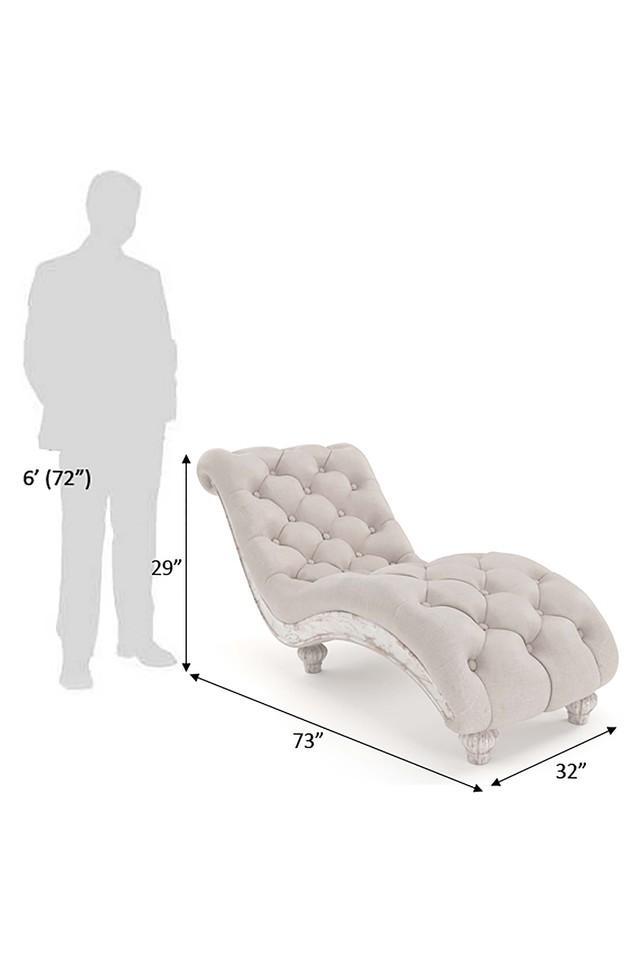 Off White Cavelier living room lounger