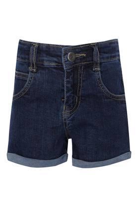 Girls 5 Pocket Rinse Wash Shorts