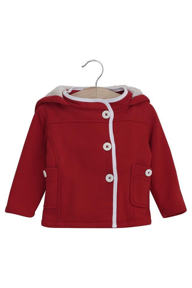 Kids Hooded Neck Solid Jacket