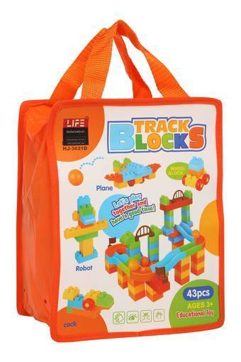 Unisex Track Building Blocks Bag Set of 43 Pcs