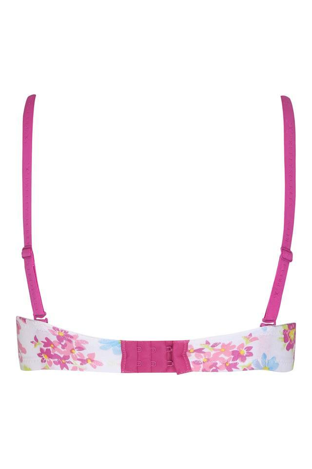 Womens Floral Print Padded Wired T-Shirt Bra