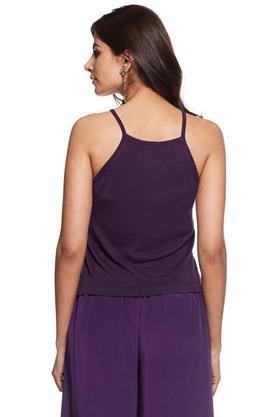 Women Sleeveless Flatknit Top