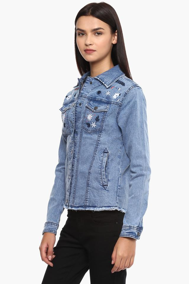 Womens Embroidered Casual Jacket