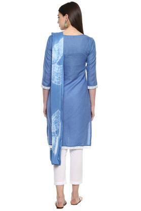 Womens Round Neck Embroidered Pant Suit