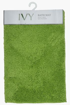 Polyester Solid Textured Bath Mat