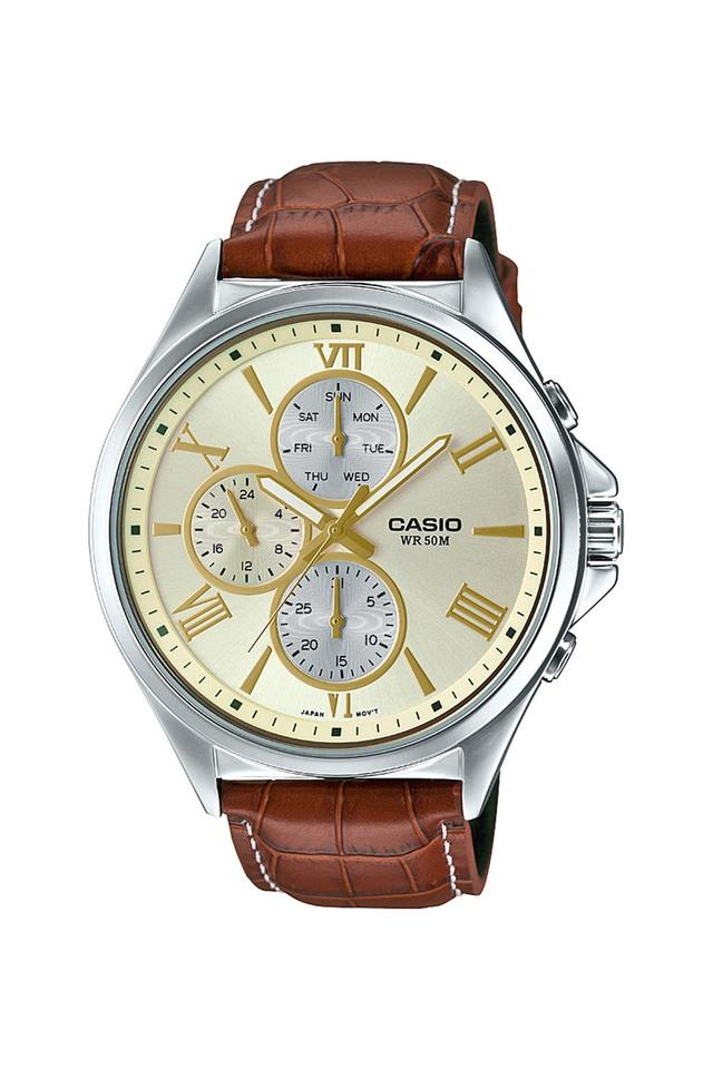 Mens Gold Dial Chronograph Watch