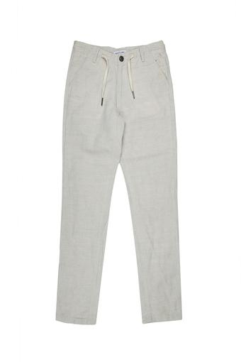 Boys 4 Pocket Solid Drawstring Trousers