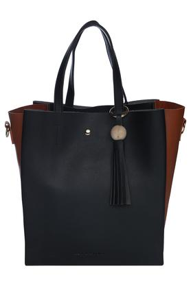 Womens Snap Closure Tote Handbag