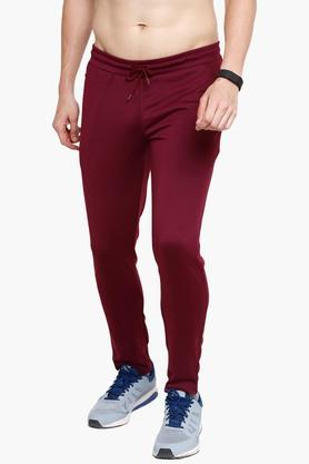Mens Slim Fit Solid Track Pants