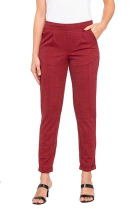 Womens 2 Pocket Check Pants