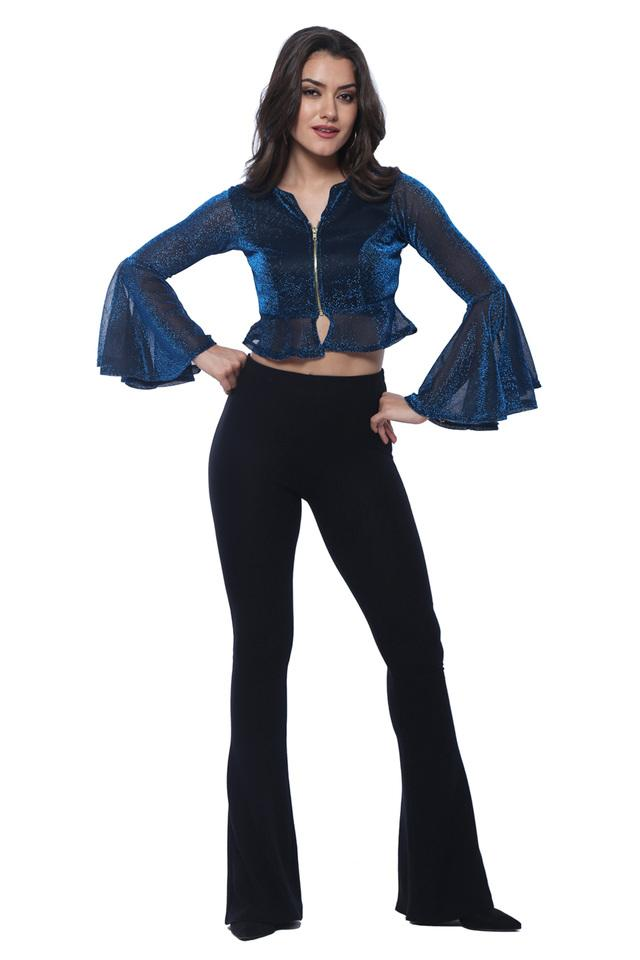 Womens Bell Sleeves Shimmer Jacket