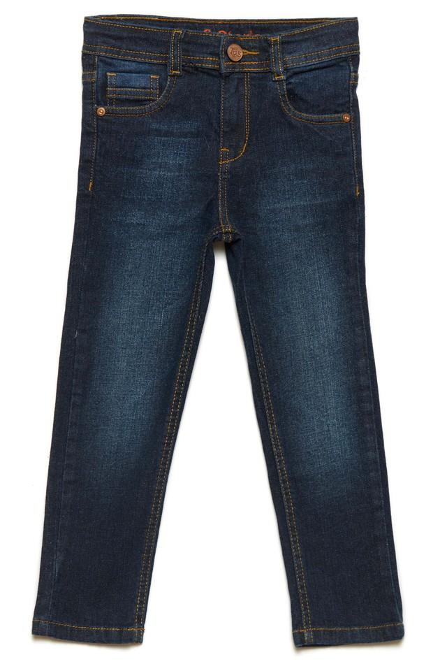 Girls 4 Pocket Solid Jeans
