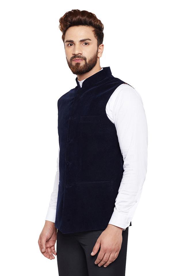 Mens Solid Nehru Jacket