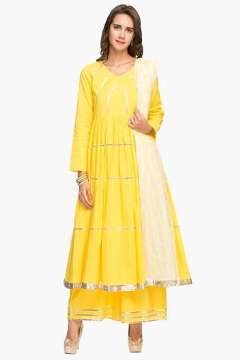 Womens V Neck Solid Palazzo Suit