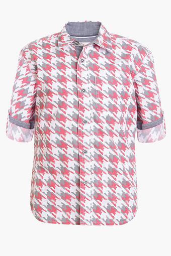 Boys Collared Printed Shirt