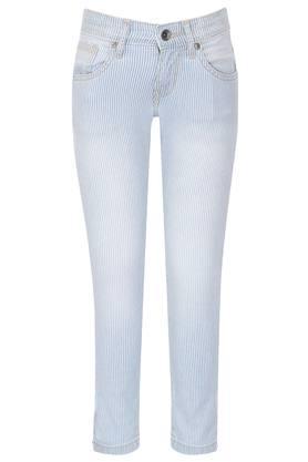 Boys 5 Pocket Striped Jeans