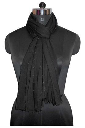 Womens Solid Embellished Scarf