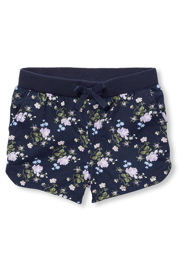 Girls Floral Print Shorts