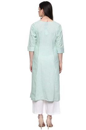 Womens Round Neck Stripe Kurta
