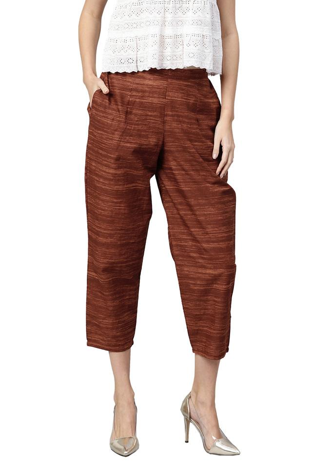 Womens 2 Pocket Textured Pants